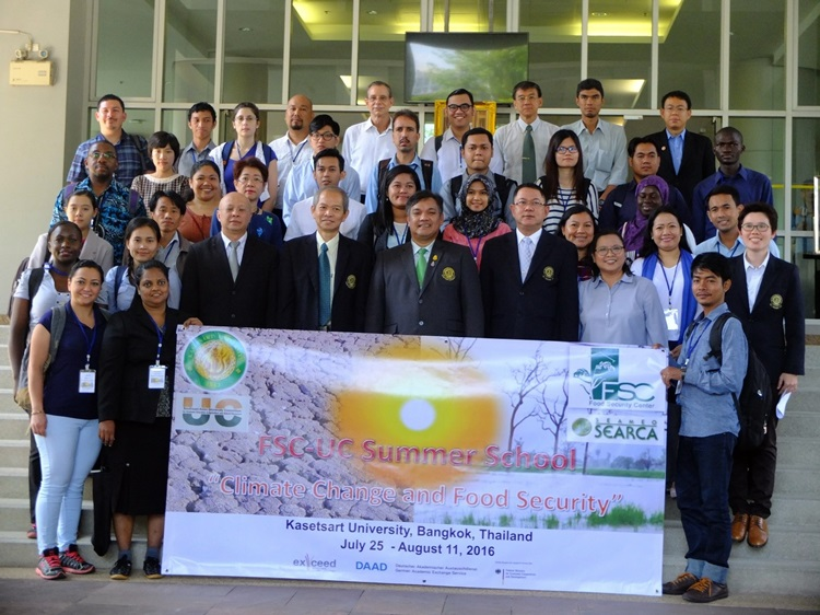 Kasetsart University hosts 2016 Summer School on Climate Change and Food Security 1