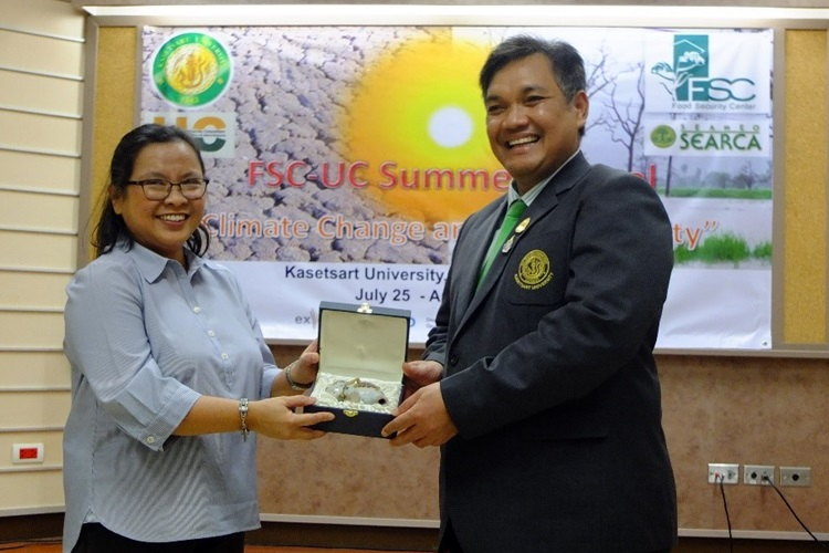 Kasetsart University hosts 2016 Summer School on Climate Change and Food Security 3