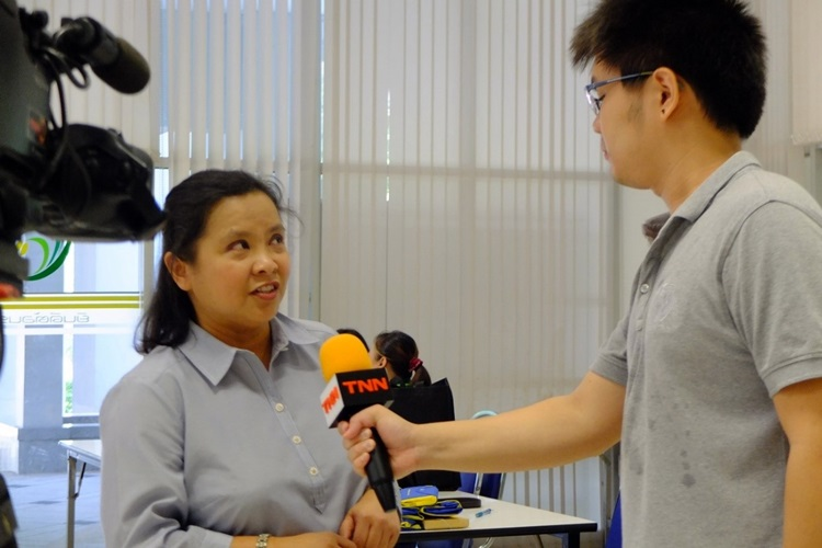 Thai News Network (TNN24) interviews Dr. Cuaresma after the Summer School opening program.