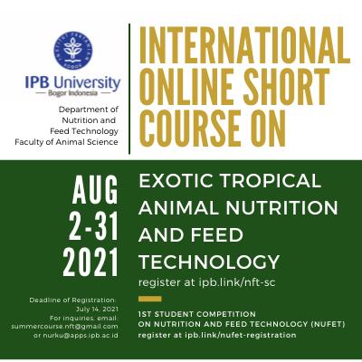 IPB University - Invitation to the Internation Online Short Course (IOSC) 2021