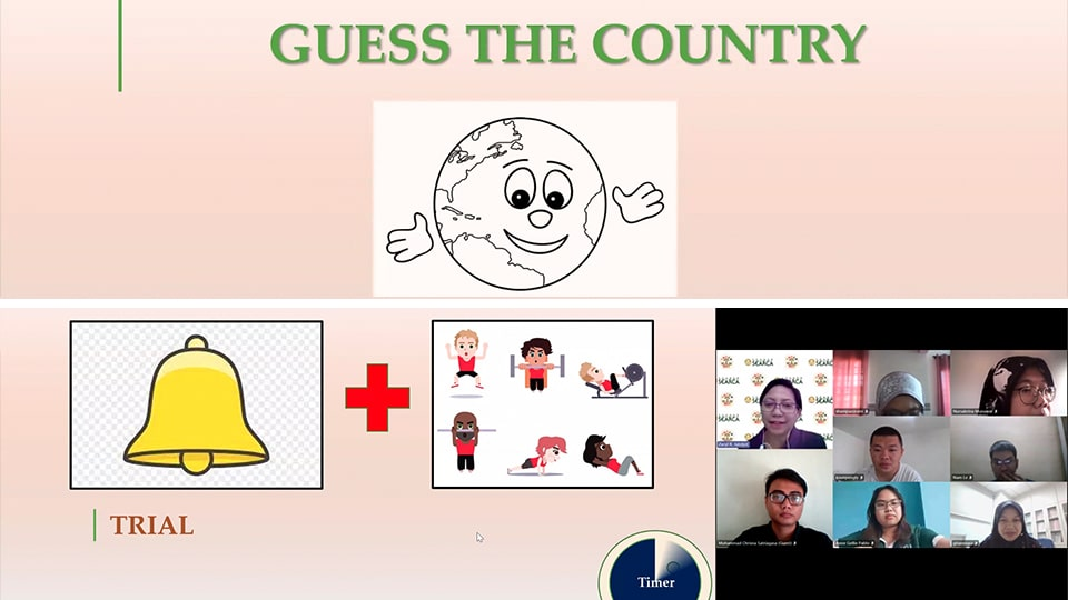 GSID hosted fun online games for the scholars during the virtual hangout.